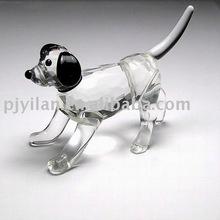 Precioso cristal presente de casamento lembranças cão
