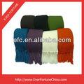 la moda de punto de acrílico llanura bufanda bufanda