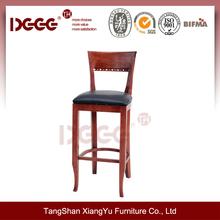 DG-W0014B Solid Antique wooden Kitchen Bar chair