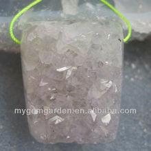 41x29x20mm Drusy Amethyst Geodes Pendant