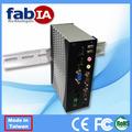 Din Rail resistente de la caja sin ventilador PC ( FX5312 )