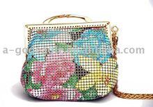 2012 flower print mini metal mesh coin purse G6083