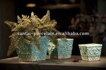 Glazed ceramic indoor pot
