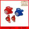High Quality 1 LED silicone rubber warning frame and rear bike light