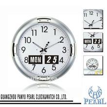 Pearl 100% Auto Flip Calendar Wall Clock with Sweep Second Flip Clock JK17
