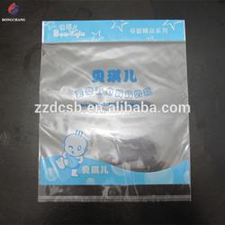 Self adhesive sealed plastic opp garment bag with printed header