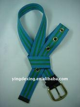 Eyelet Webbing Belt , Nylon man waist belt