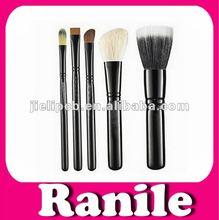 Ranile 5pcs high quality goat hair makeup brushes