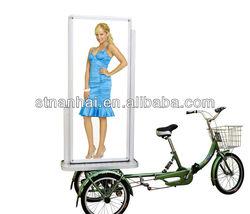 J3B-077 2014 china new innovative product led advertising trailers mobile led screen trailer bike