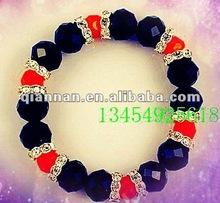 great black crystal elastic chain bracelet