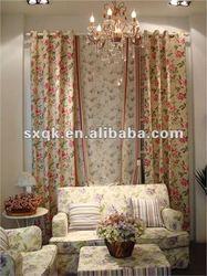 Elegent printed window curtain for spring/summber