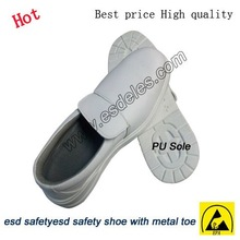 esd safety shoe steel to cap oil resistant white color