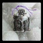 Caved Shell Fossil Buddha Head Pendant
