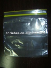 food grade leakproof and moistureproof clear resealable plastic zip lock bag/grip bag for food/medicine/cookies/snack
