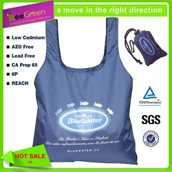 Direct Factory Manufacturer Foldable recycled bag with integrated pouch(Woolworths Audit Factory)