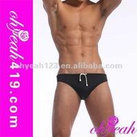 2014Wholesale paypal accept good black hot sale mens nylon string panty