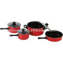 carbon steel 7 pcs cookware pot