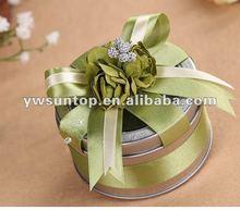 Exquisite Green Flower Round Wedding Candy Tin Box 6 colour