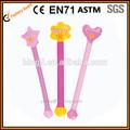 Plastique pvc gonflables bâtons de fées, gonflables jouets filles