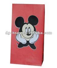 Customize printed red kraft bag