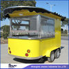2014 Stainless Steel Mobile Commercial Coffee Cart Convenient New Style Food Kiosk Mobile Food Carts for Sale CE