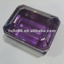 Fashion transparent plastic/ beauty make-up box/accessories
