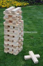 Wooden blocks stacking game, Tumbling blocks game,enjoyable wooden garden game set