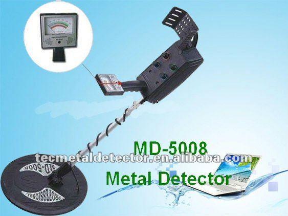 Detector de metais preciosos, profunda terra detector de metais do tesouro do detector de metais md-5008 com haste telescópica
