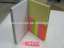 assorted sticky note with hard cover