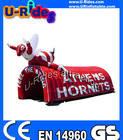 Hot Red Arch Inflatable Tent for advertisement