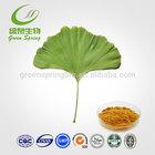 Ginkgo Biloba P.E 24.0%Flavones 6.0% lactones,health product Ginkgo Biloba P.E