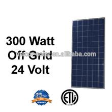 300W Poly Solar panels , 24V solar panel , on /off grid solar panel