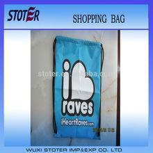 customized promotional cheap polyester drawstring shopping bag