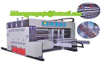 High Speed!!!! special type automitic water color printing grooving machine for carton making