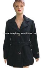 2012 lady's winter polyester fake wool fashion jacket