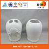White Glazed Ceramic Toothpicker Container
