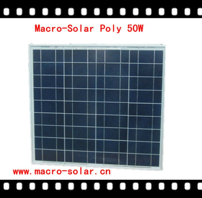 Effective Photovoltaic Solar Panel 50W