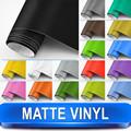حار بيع عالية الجودة 16 الألوان التفاف الفينيل سيارة سوداء ماتي