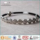 St.Benedict Metal Beads Extensile Velvet Rosary Bracelet