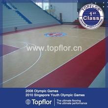Indoor wood pattern pvc basketball flooring