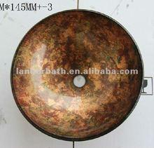 "Latest 16"" Luxury Bathroom Artistic tempered Glass Vessel Vanity stone color Sink basin PB20"
