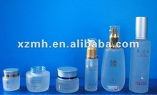 airless frosted glass cosmetic bottle