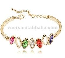 2012 fashion jewelry gold crystal bracelet