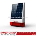 El más reciente 2014 inalámbrica sirena solar jd-w06 inteligente de alarma de la sirena al aire libre para el hogar sistema de alarma