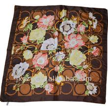 100%Silk twill silk scarf printed