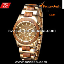 Business field of gentleman 's Natural Wooden with alloy Watch
