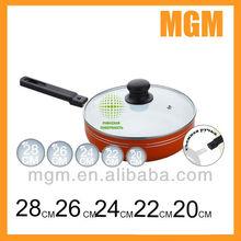aluminum detachable handles deep fry pan