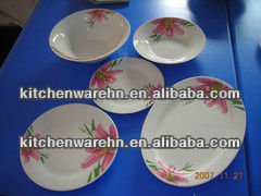ceramic plate with especial printing for home.2014 new design