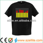 Excellent China manufactuer el led t-shirt with flashing panel