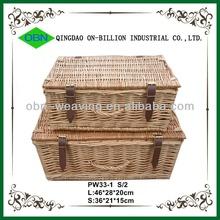 Cheap wicker empty bulk picnic baskets